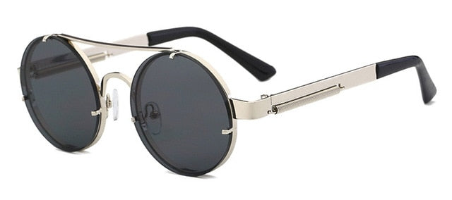 Peekaboo - Silver & Black - Men's Sunglasses - Steampunk Sunglasses - Crissado