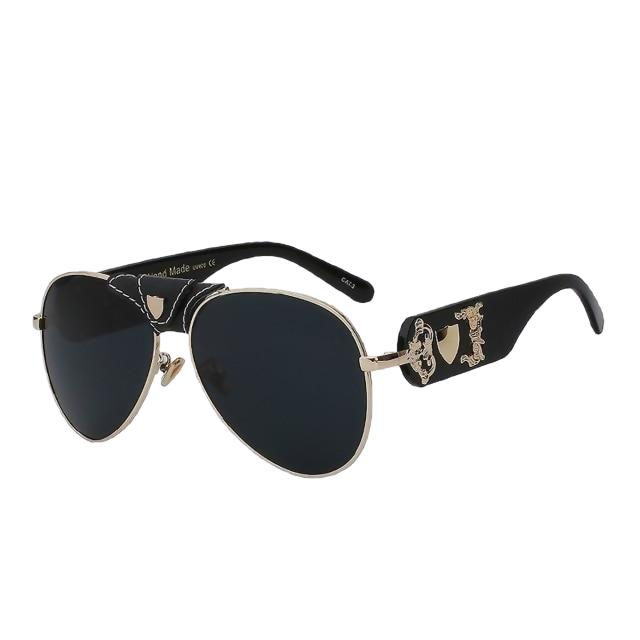 JACQUES - Black gold w black - Men's & Women's Sunglasses - Vintage Sunglasses - Crissado