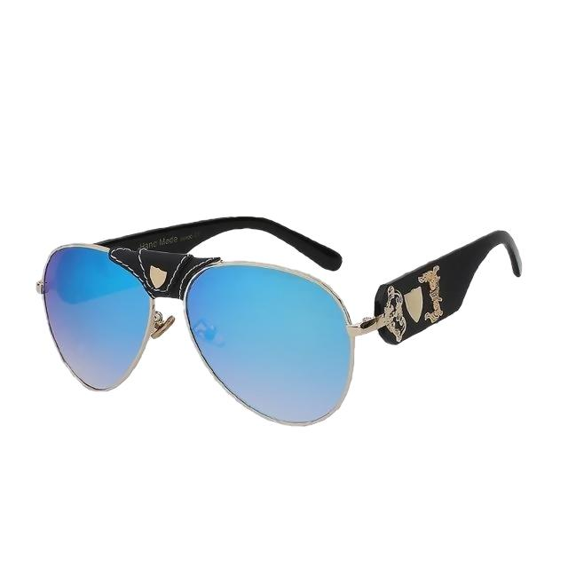 JACQUES - Black w blue mirror - Men's & Women's Sunglasses - Vintage Sunglasses - Crissado