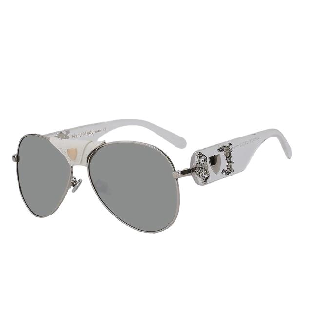 JACQUES - Silver w silver mir - Men's & Women's Sunglasses - Vintage Sunglasses - Crissado