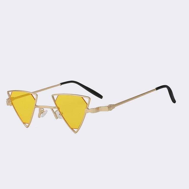 Terrassa - Gold w sea yellow - Women's Sunglasses - Steampunk Sunglasses - Crissado