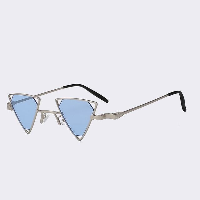 Terrassa - Silver w sea blue - Women's Sunglasses - Steampunk Sunglasses - Crissado