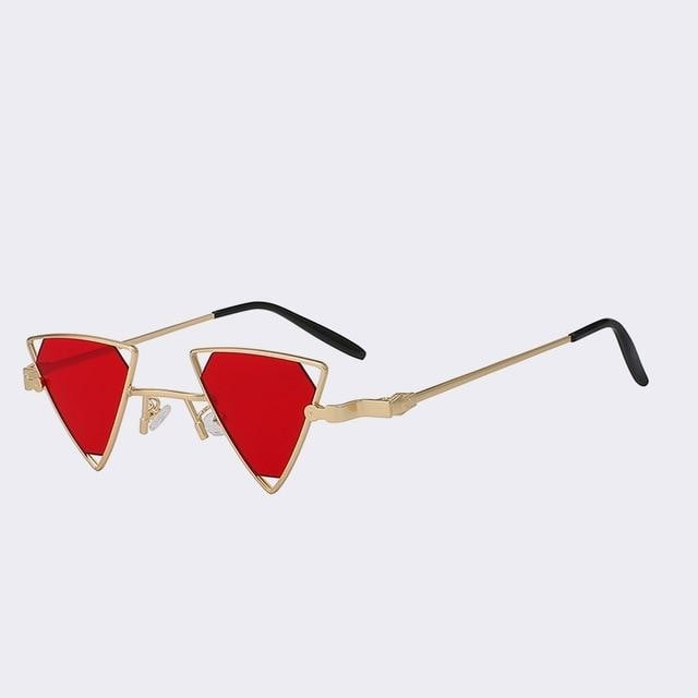 Terrassa - Gold w sea red - Women's Sunglasses - Steampunk Sunglasses - Crissado