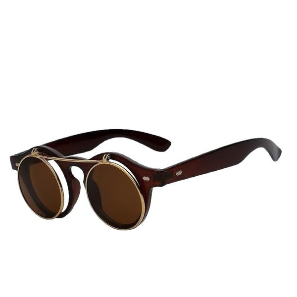 IMPERATOR - Brown w brown - Men's & Women's Sunglasses - Flip Up Sunglasses - Crissado