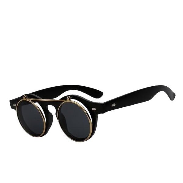 IMPERATOR - Matte black w black - Men's & Women's Sunglasses - Flip Up Sunglasses - Crissado