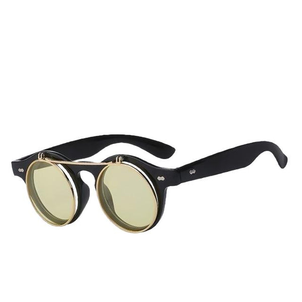 IMPERATOR - Black w sea yellow - Men's & Women's Sunglasses - Flip Up Sunglasses - Crissado