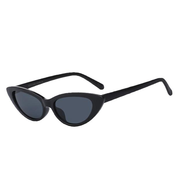 Lingox Sunglasses-Black w black-Women's Sunglasses-Cat Eye Sunglasses-Lensuit