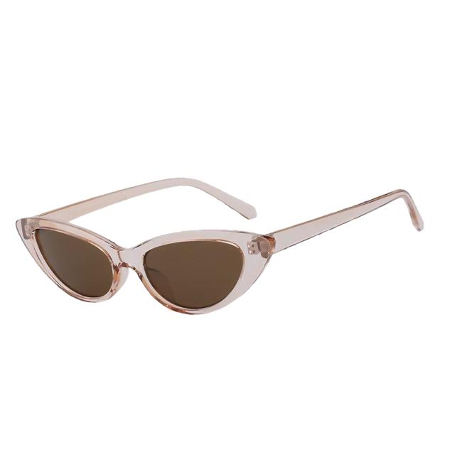 Lingox - Champagne w brown - Women's Sunglasses - Cat Eye Sunglasses - Crissado