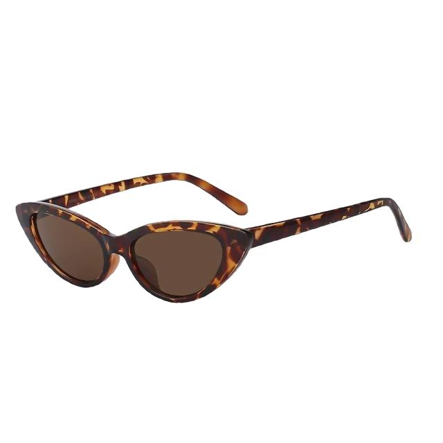 Lingox - Leopard w brown - Women's Sunglasses - Cat Eye Sunglasses - Crissado