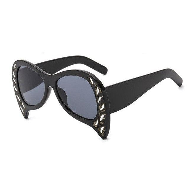 Foxclore Sunglasses-C1 Black Gray-Women's Sunglasses-Cat Eye Sunglasses-Lensuit