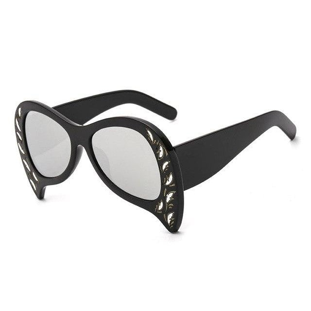 Foxclore Sunglasses-C3 Black Silver-Women's Sunglasses-Cat Eye Sunglasses-Lensuit