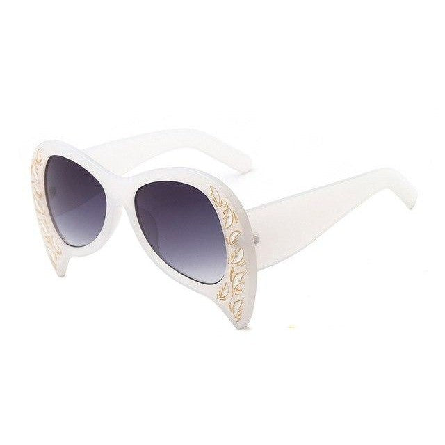 Foxclore Sunglasses-C4 White Gray-Women's Sunglasses-Cat Eye Sunglasses-Lensuit