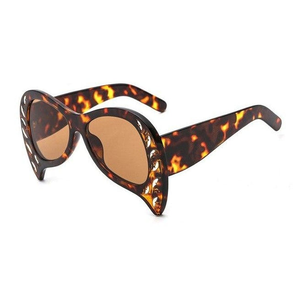 Foxclore - C6 Leopard Brown - Women's Sunglasses - Cat Eye Sunglasses - Crissado