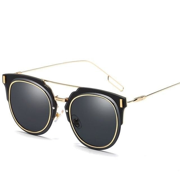 JAZZ - C3 Gold Gray - Men's & Women's Sunglasses - Cat Eye Sunglasses - Crissado