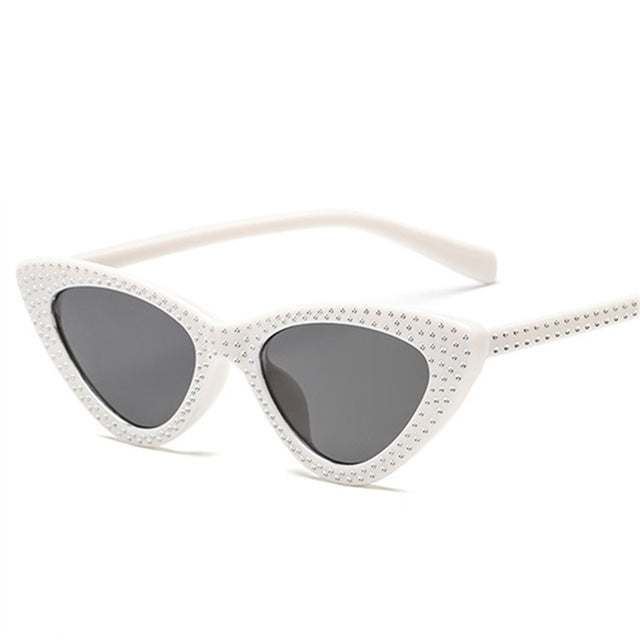 Kiddo - White / as picture - Women's Sunglasses - Cat Eye Sunglasses - Crissado
