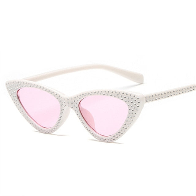 Kiddo - White Pink / as picture - Women's Sunglasses - Cat Eye Sunglasses - Crissado
