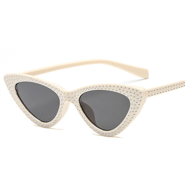 Kiddo - Beige / as picture - Women's Sunglasses - Cat Eye Sunglasses - Crissado
