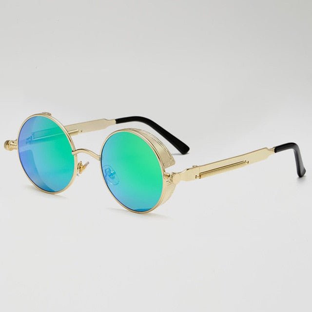 Jacob Vintage - Sky & Gold - Men's Sunglasses - Round Sunglasses - Crissado