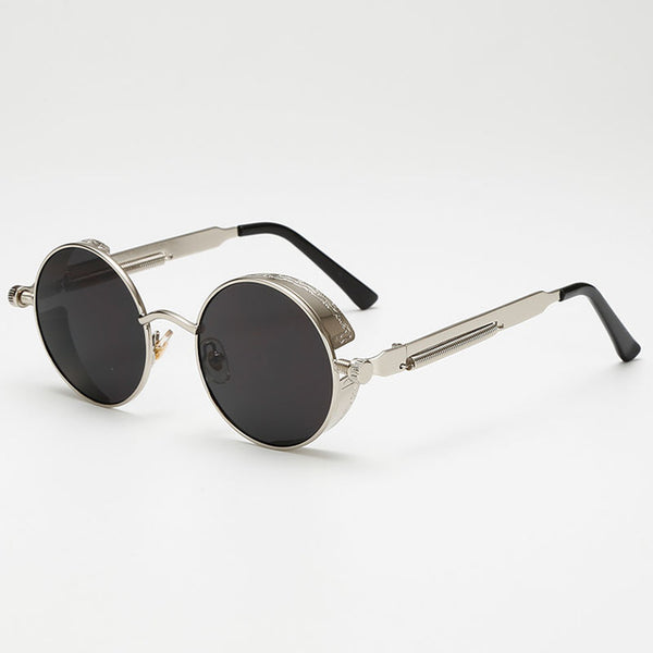 Jacob Vintage - Black & Silver - Men's Sunglasses - Round Sunglasses - Crissado