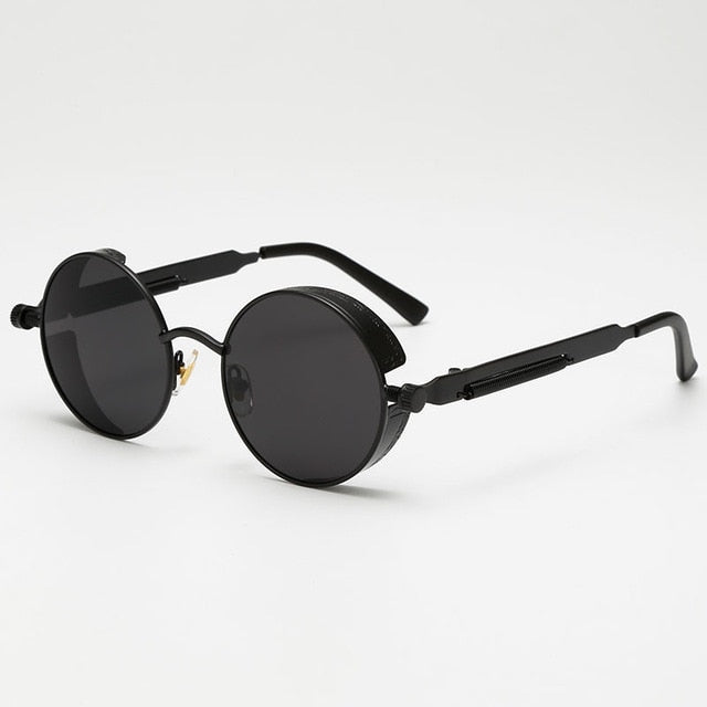 Jacob Vintage - All Black - Men's Sunglasses - Round Sunglasses - Crissado