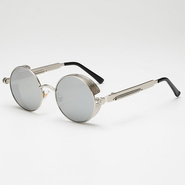 Jacob Vintage - Grey & Silver - Men's Sunglasses - Round Sunglasses - Crissado