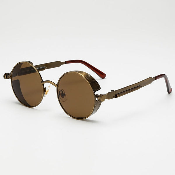 Jacob Vintage - Brown - Men's Sunglasses - Round Sunglasses - Crissado