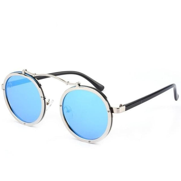 Slit - C5 Blue lens - Men's & Women's Sunglasses - Steampunk Sunglasses - Crissado