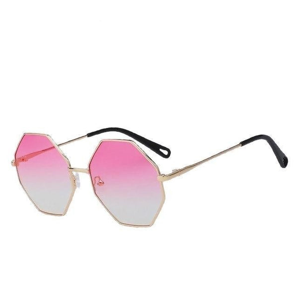 Burder - Gold w pink yellow - Men's & Women's Sunglasses - Round Sunglasses - Crissado