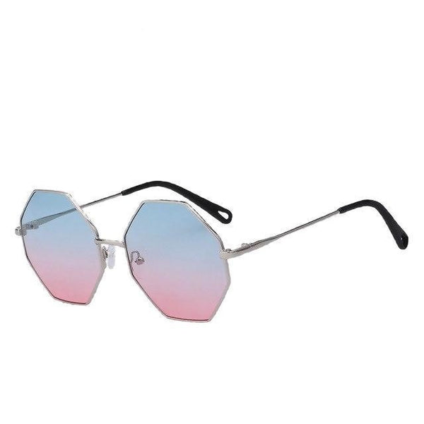Burder - Silver w blue pink - Men's & Women's Sunglasses - Round Sunglasses - Crissado