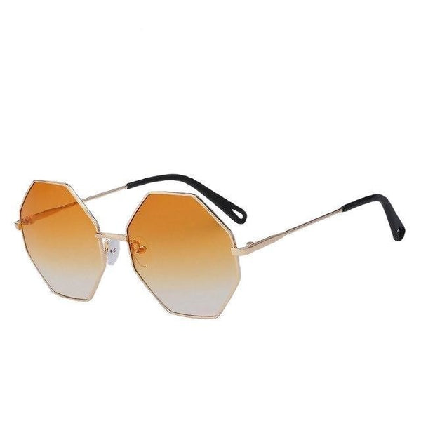 Burder - Gold w orange yellow - Men's & Women's Sunglasses - Round Sunglasses - Crissado