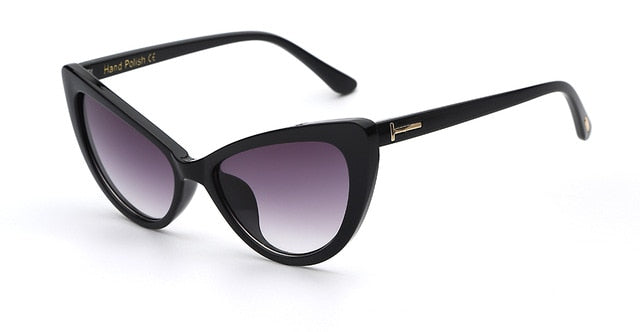 Hexteria Sunglasses-C1 Gloss black-Lensuit-Cat Eye Sunglasses-Lensuit
