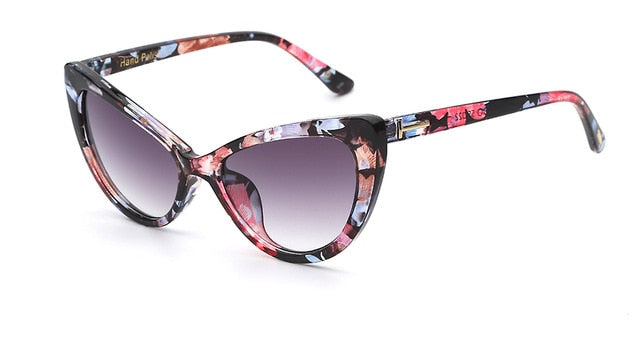 Hexteria Sunglasses-C2 Flower floral-Lensuit-Cat Eye Sunglasses-Lensuit