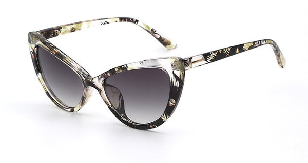 Hexteria - C5 Yellow floral - Unisex Sunglasses - Cat Eye Sunglasses - Crissado