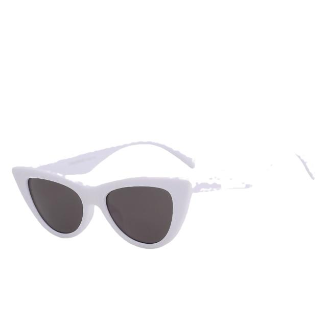 Sinpad - White w black - Women's Sunglasses - Cat Eye Sunglasses - Crissado