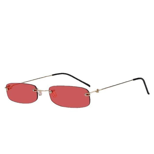 Chevesic - Gold w sea red - Men's & Women's Sunglasses - Vintage Sunglasses - Crissado
