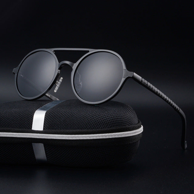Demoriten Sunglasses-Default Title-Men's Sunglasses-Round Sunglasses-Lensuit