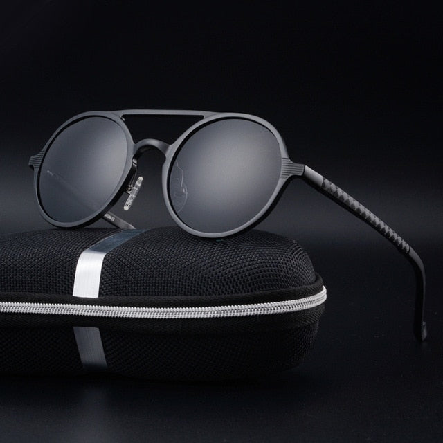 Keeper Sunglasses-Black-Men's Sunglasses-Round Sunglasses-Lensuit
