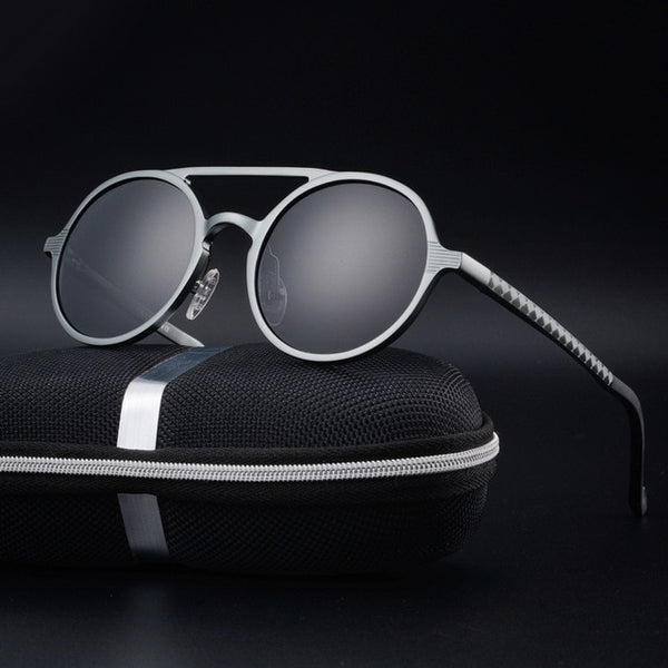 Keeper - Gray - Men's Sunglasses - Round Sunglasses - Crissado