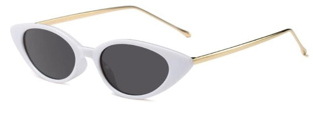 Shiori - C2 white frame black - Women's Sunglasses - Cat Eye Sunglasses - Crissado