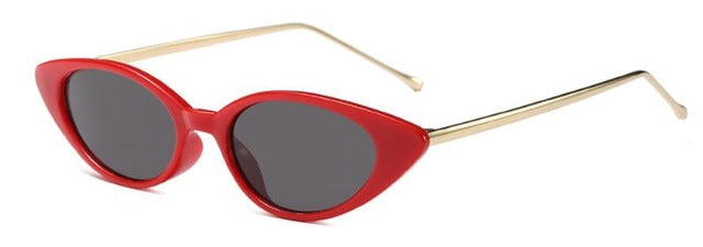 Shiori - C6 red frame black - Women's Sunglasses - Cat Eye Sunglasses - Crissado