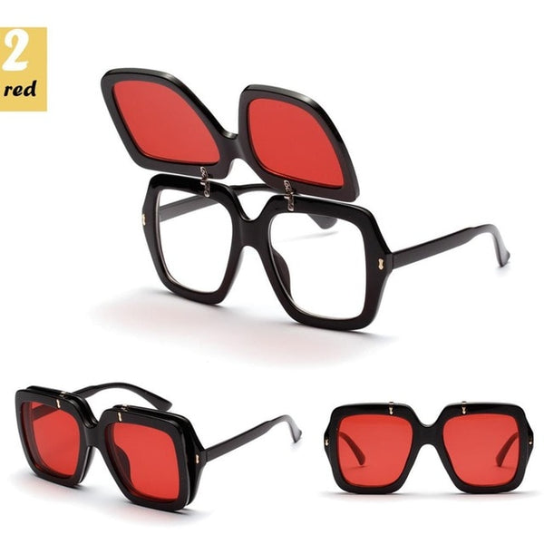 Grinner - Red / As Pic - Women's Sunglasses - Vintage Sunglasses - Crissado