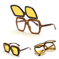 Grinner - Yellow / As Pic - Women's Sunglasses - Vintage Sunglasses - Crissado