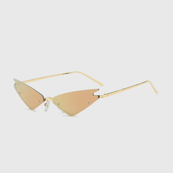 Marion - C2-Gold-Pink - Women's Sunglasses - Cat Eye Sunglasses - Crissado