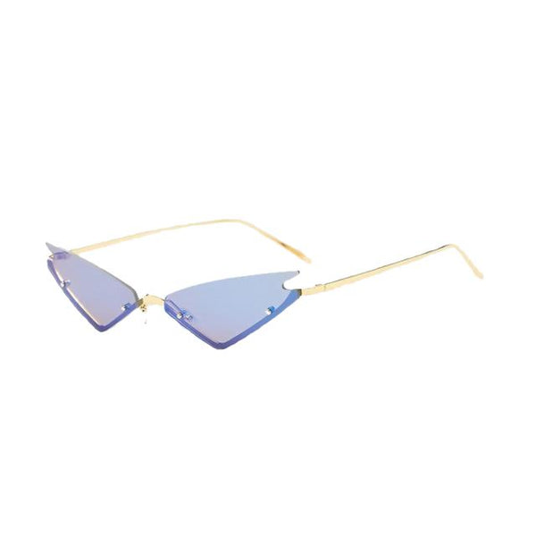 Marion - C4-Gold-Blue - Women's Sunglasses - Cat Eye Sunglasses - Crissado