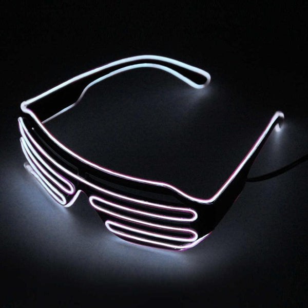 Scattershot LED Night Glasses - White - Men's & Women's Sunglasses -  - Crissado