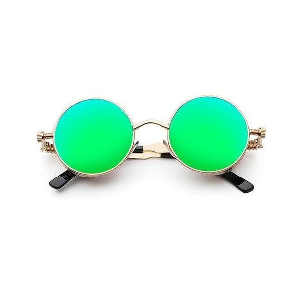 Driller - green mirror / as shownin photo - Men's Sunglasses - Round Sunglasses - Crissado