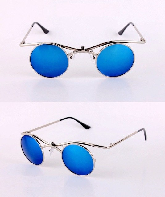 Djeng - Blue / as photo - Men's Sunglasses - Round Sunglasses - Crissado