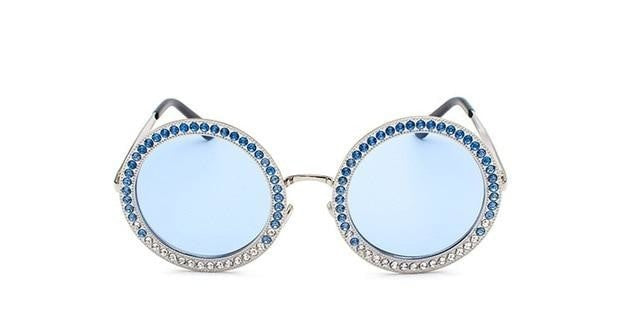 Sayers - C2 Silver Blue - Women's Sunglasses - Round Sunglasses - Crissado