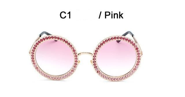Sayers - C1 Gold Pink - Women's Sunglasses - Round Sunglasses - Crissado