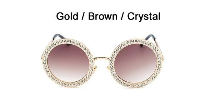 Sayers - C4 Gold Brown - Women's Sunglasses - Round Sunglasses - Crissado